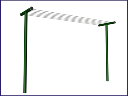 Picture of T - Post clothesline