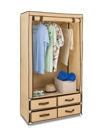 Picture of 4 Drawer Hanging Wardrobe