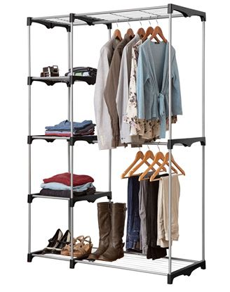 Picture of Double Rod Wardrobe with 5 Shelves